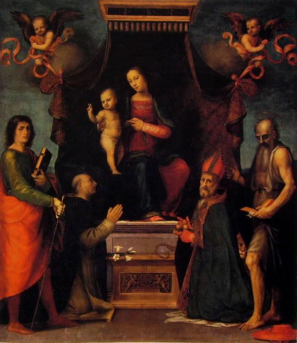 Mariotto Albertinelli: Madonna in trono col Bambino tra i santi (Firenze)