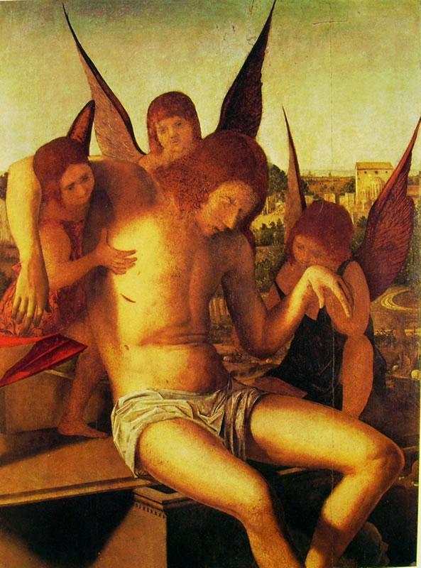 Antonello da Messina: Pietà con tre angeli