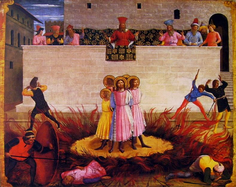 I Santi Cosma e Damiano vanamente condannati al rogo