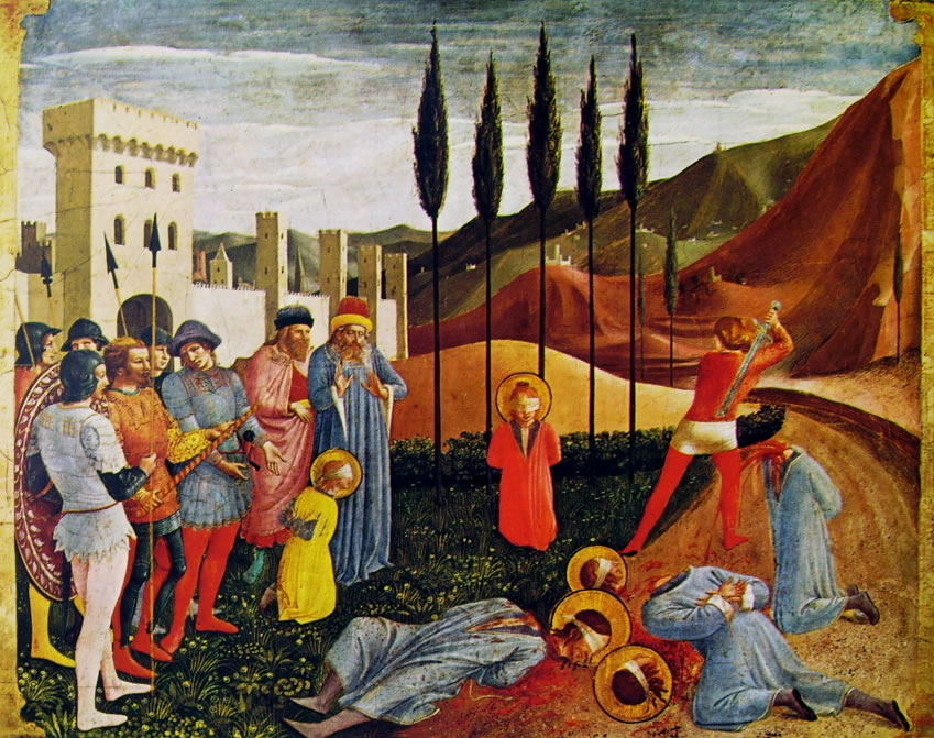 """La decapitazione dei Santi Cosma e Damiano"""" di Beato Angelico"""