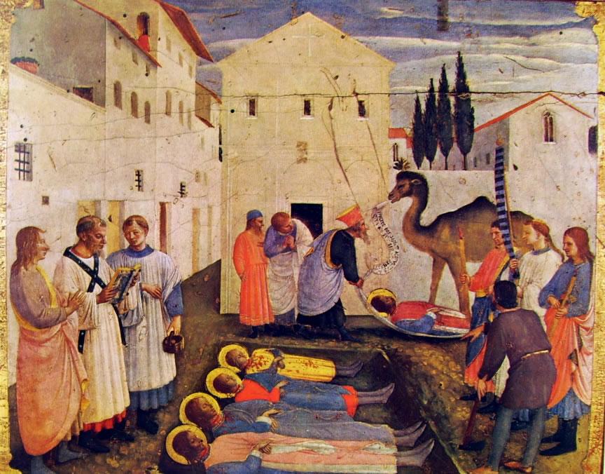 La sepoltura dei Santi Cosma e Damiano