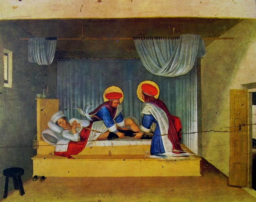 Beato Angelico:La guarigione del diacono Giustiniano