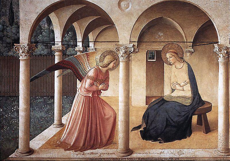 Beato Angelico: Affreschi di San Marco - L'Annunciazione