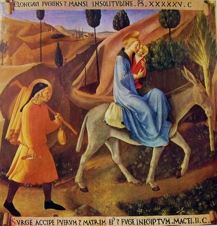 Beato Angelico: Armadio degli argenti - Fuga in Egitto