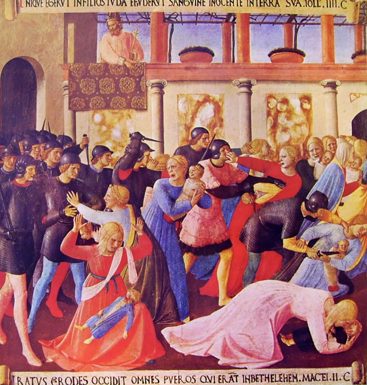 Beato Angelico: Armadio degli argenti - La strage degli innocenti