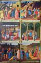Una anta dipinta, cm. 118 x 75 con le raffigurazioni