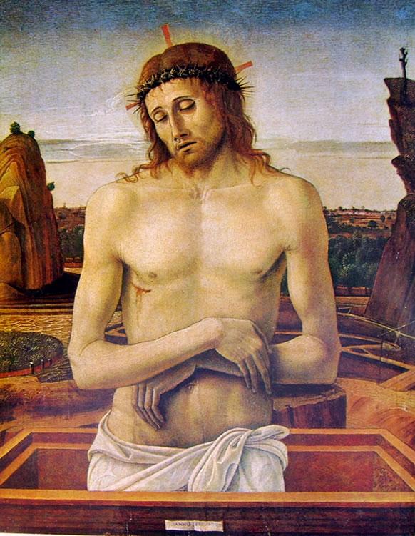 """Giovanni Bellini: """"Cristo morto nel sepolcro"""", o """"Pietà"""""""