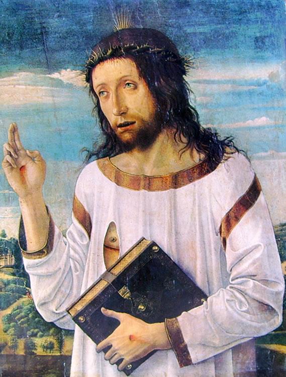 Giovanni Bellini: Cristo benedicente (Louvre)