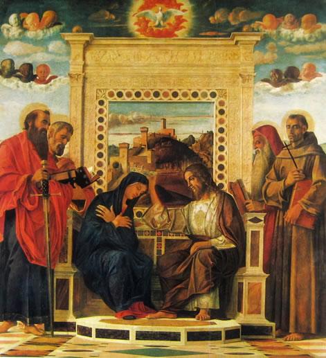 Incoronazione della Madonna, cm.240