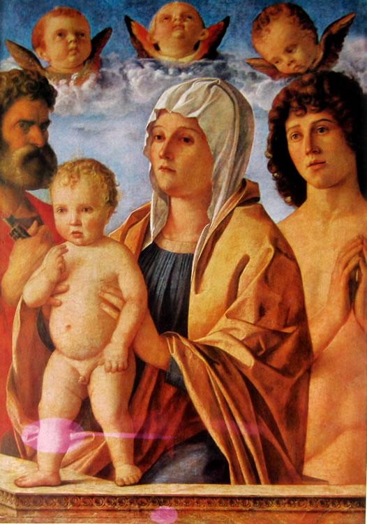 Giovanni Bellini: Madonna con il bambino e i santi Pietro e Sebastiano