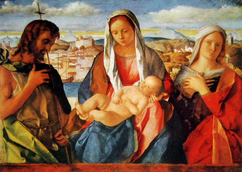 Madonna con il bambino, san Giovanni Battista e una santa