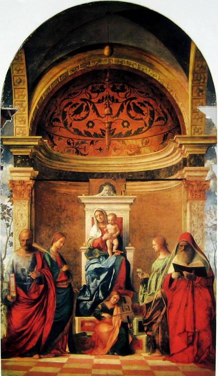 Giovanni Bellini: Pala di San Zaccaria - Sacra conversazione