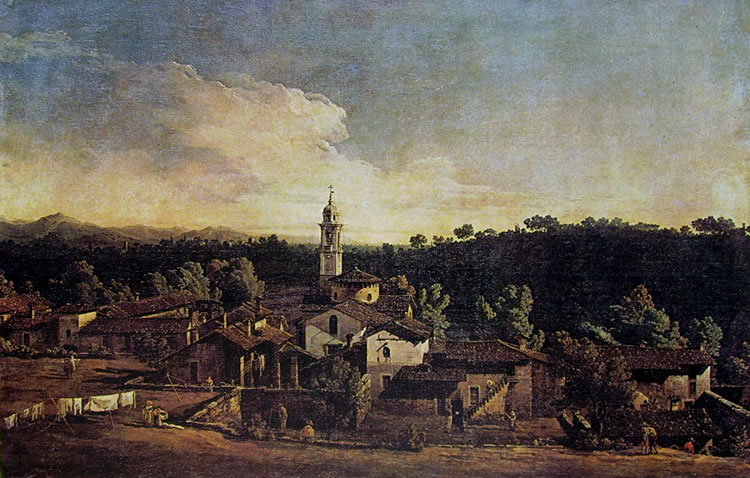 Bellotto: Gazzada - Il Villaggio a sud