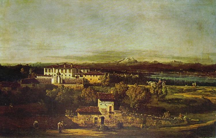 Bellotto: Gazzada - Villa Melzi d'Eril da sud-est