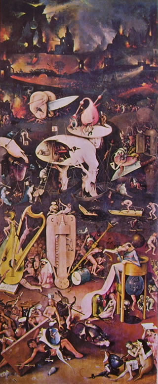 Hieronymus Bosch: Trittico delle delizie - L'inferno musicale