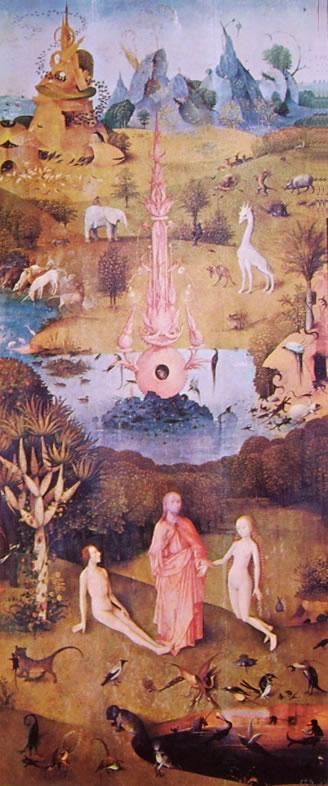 Hieronymus Bosch: Trittico delle delizie: parte sinistra - Il Paradiso terrestre
