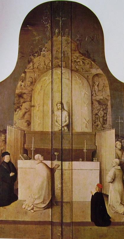 Trittico dell'Epifania - La messa di San Gregorio di Hieronymus Bosch del Prado