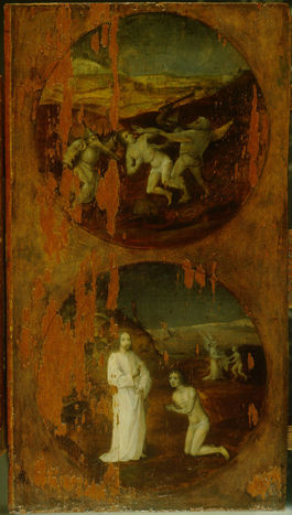 Hieronymus Bosch: Trittico del diluvio - Colui che si perde e colui che si salva