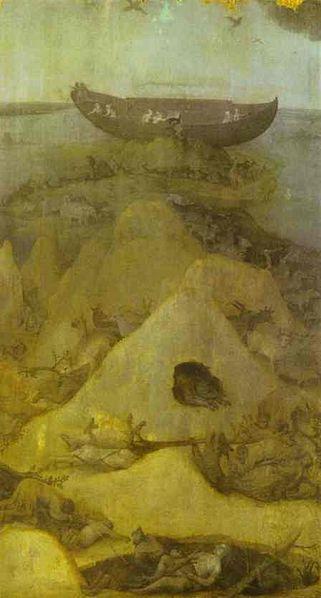 Hieronymus Bosch: Trittico del diluvio - Il mondo dopo il diluvio