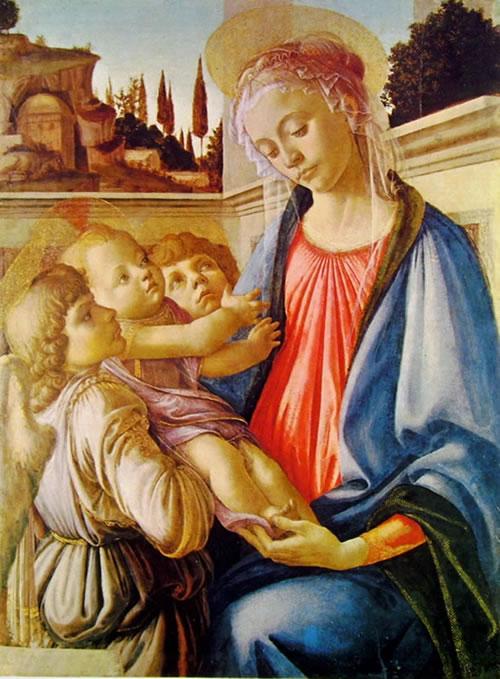 Il Botticelli: Madonna con il bambino e due angeli (Capodimonte)