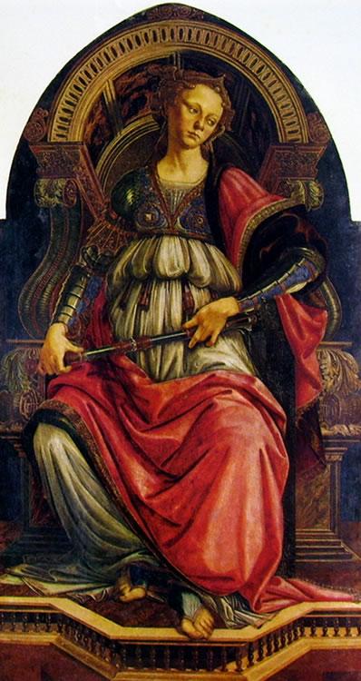 Il Botticelli: La fortezza (Galleria degli Uffizi)