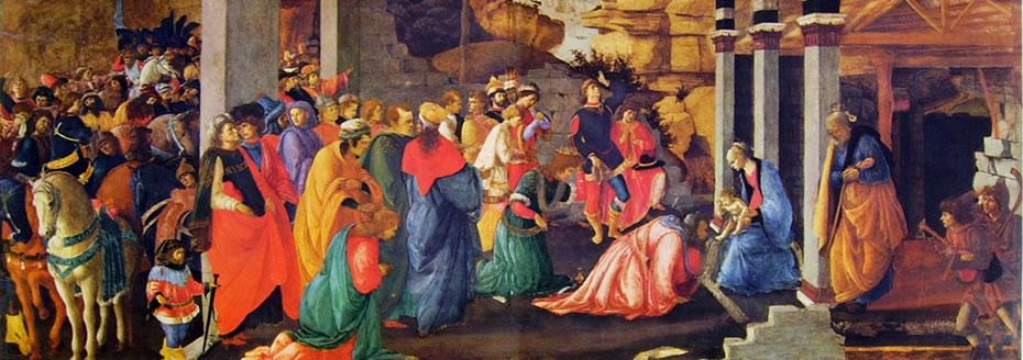 Il Botticelli: Adorazione dei magi (Londra) su tavola rettangolare