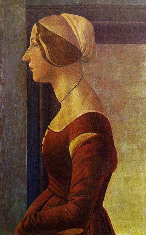 Il Botticelli: Ritratto di giovane donna
