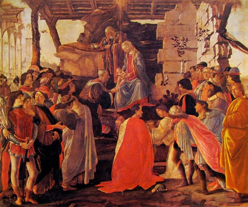 Il Botticelli: L'adorazione dei magi (Uffizi)