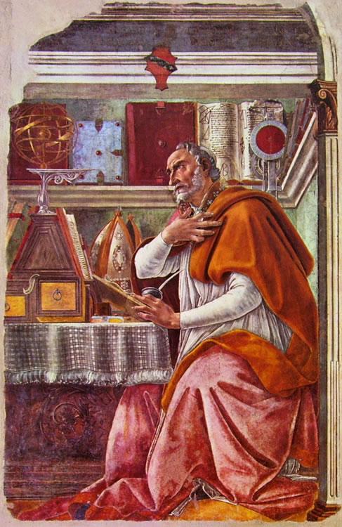 Il Botticelli: Sant'Agostino nello studio (Chiesa di Ognissanti)