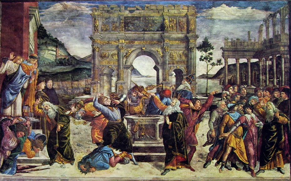 Punizione dei ribelli (Cappella Sistina) di Sandro Botticelli
