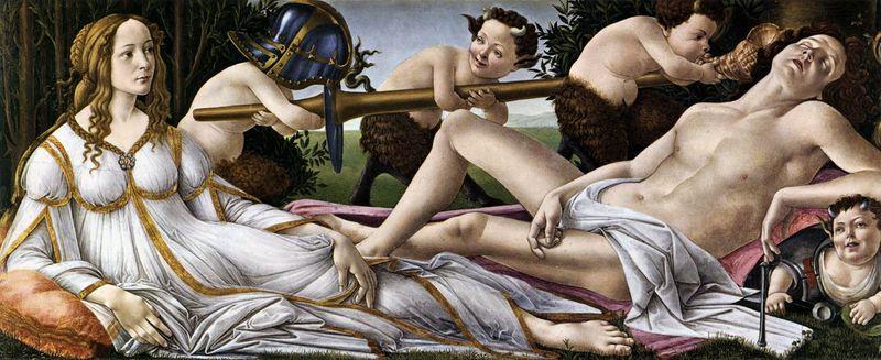 Il Botticelli: Venere e Marte (Londra)