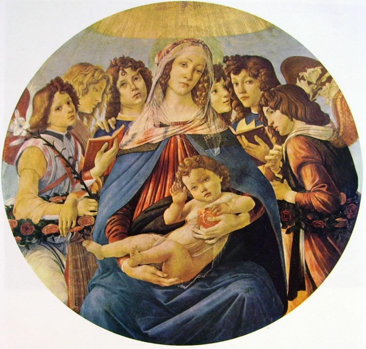 Il Botticelli: Madonna della melagrana (Uffizi)