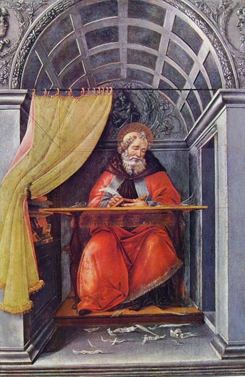 Il Botticelli: Sant'Agostino nello studio (Uffizi)