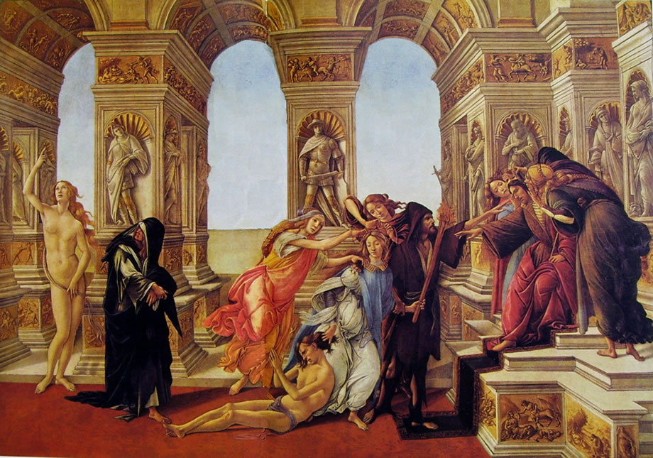 Il Botticelli: La calunnia (Uffizi)