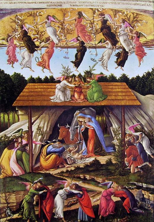 Il Botticelli: Natività mistica (National Gallery di Londra)