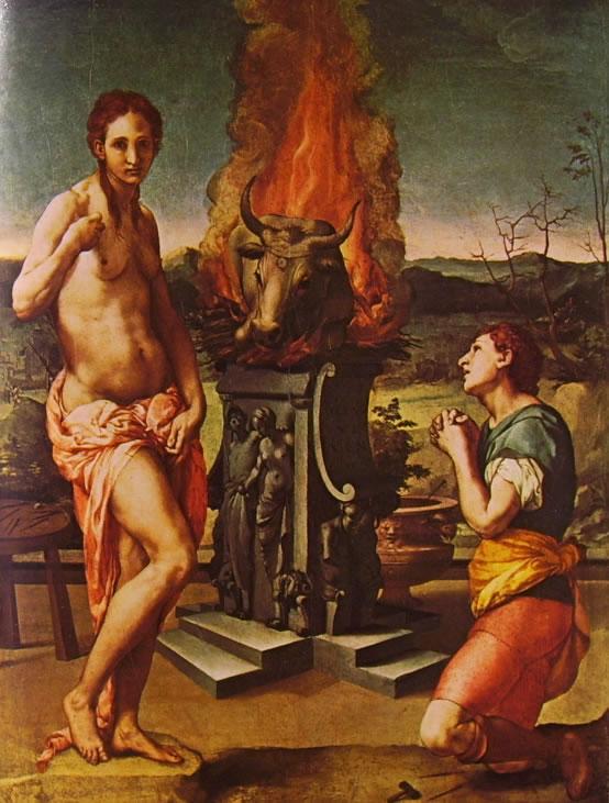 Bronzino: Pigmalione e Galatea (Palazzo Vecchio), cm. 81 x 63, Palazzo Vecchio, Firenze