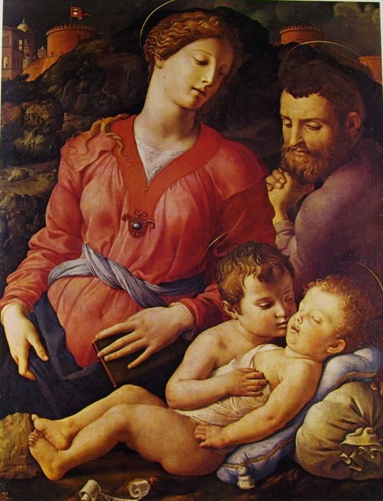 Il Bronzino: Sacra famiglia con San Giovannino (agli Uffizi)
