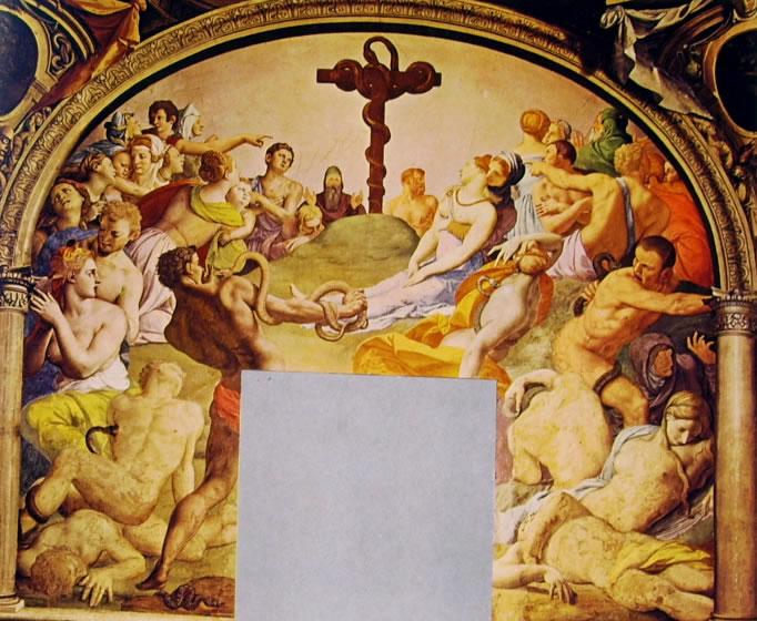 Il Bronzino: Decorazione della Cappella di Eleonora da Toledo - Adorazione del serpente di bronzo