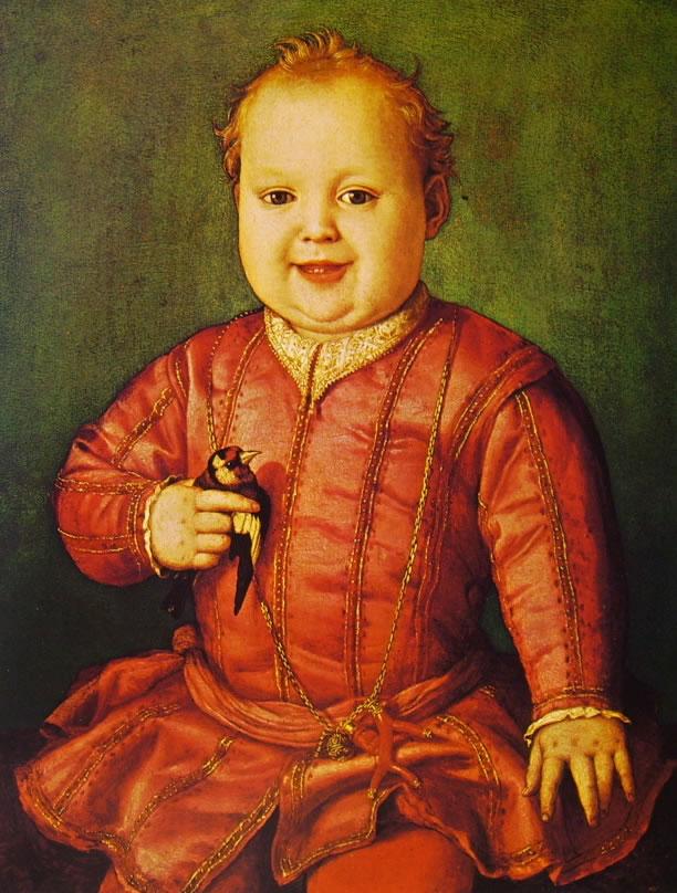 Il Bronzino: Ritratto di Giovanni de' Medici da bambino