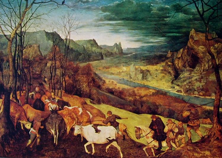 Pieter Bruegel: Il ritorno della mandria