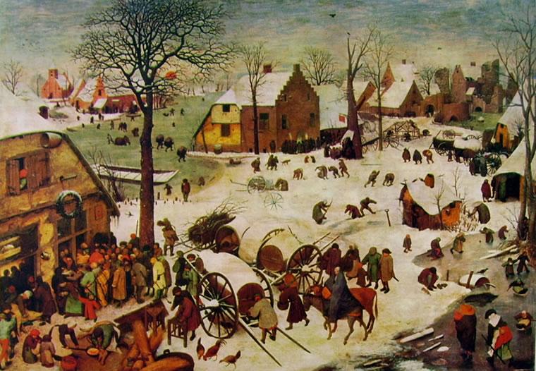 Pieter Bruegel: Censimento a Betlemme