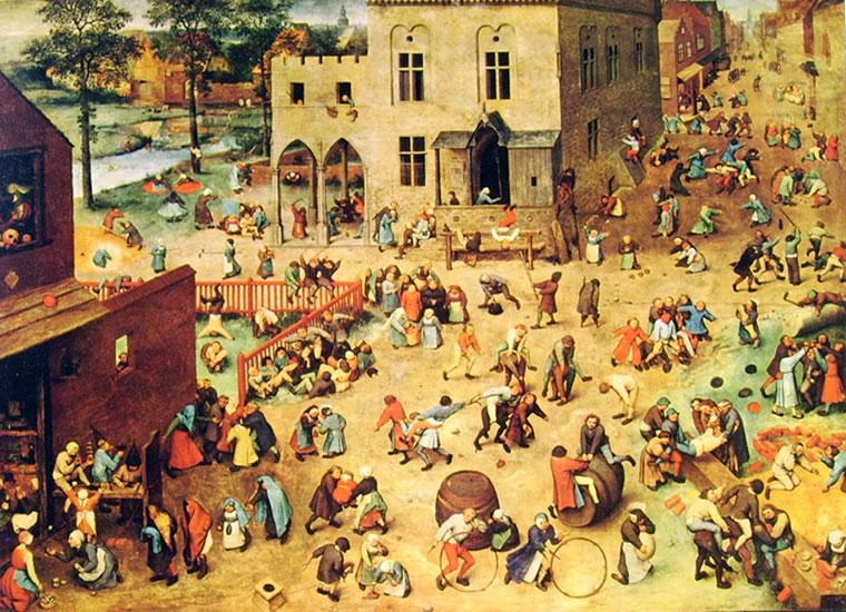 Pieter Bruegel: Giochi di fanciulli (Kunsthistorisches Museum)