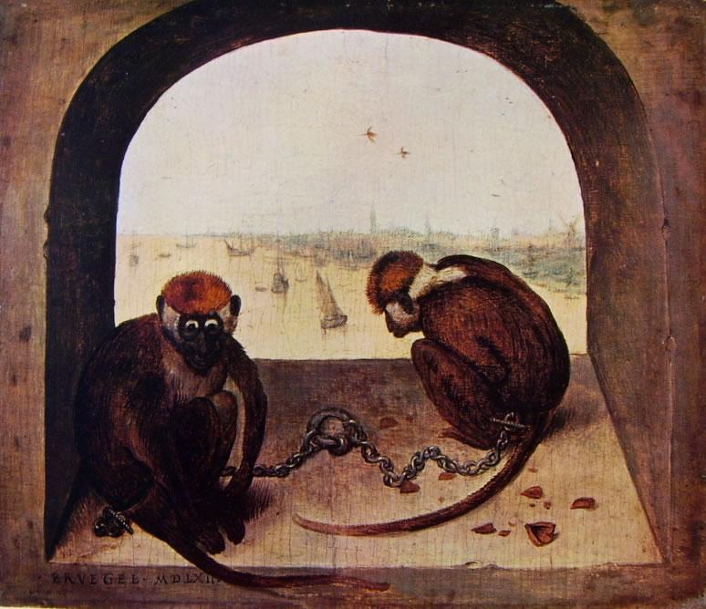 Pieter Bruegel: Due scimmie (Staatliche Museen)