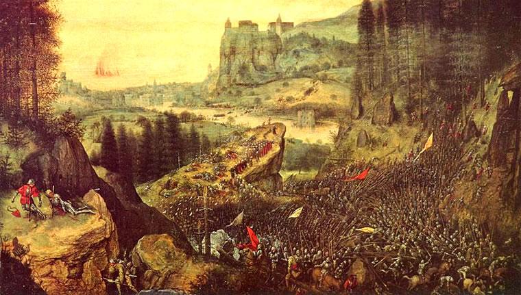 Pieter Bruegel: Il suicidio di Saul (Kunsthistorisches Museum)