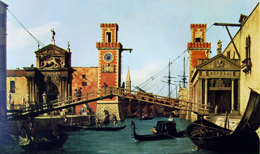 Il Canaletto: Il ponte dell'arsenale