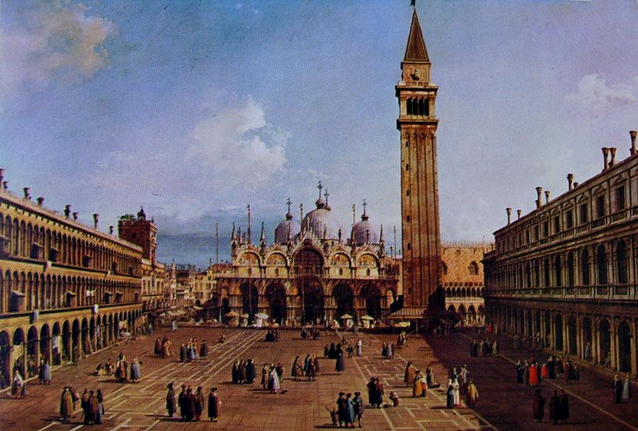 Il Canaletto: Piazza San Marco verso la Basilica
