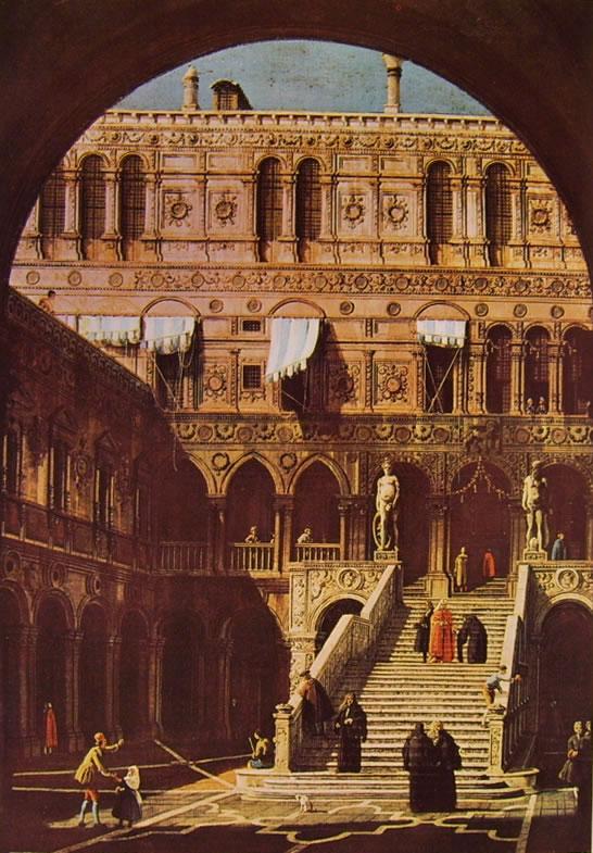 Il Canaletto: La scala dei giganti in palazzo ducale