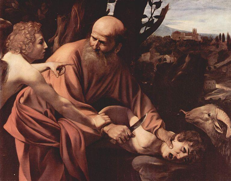 Caravaggio: Il sacrificio di Isacco (Uffizi)
