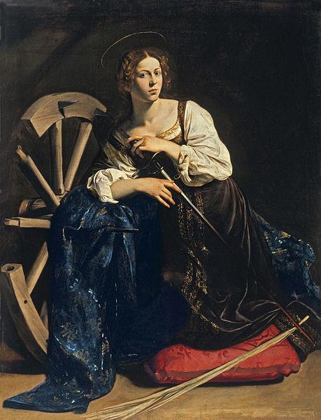 Il Caravaggio: Santa Caterina d'Alessandria (Thyssen)