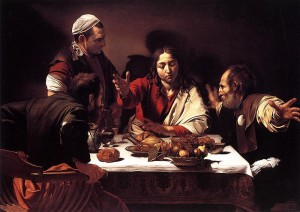 La cena in Emmaus, 139 × 195, Londra, National Gallery.